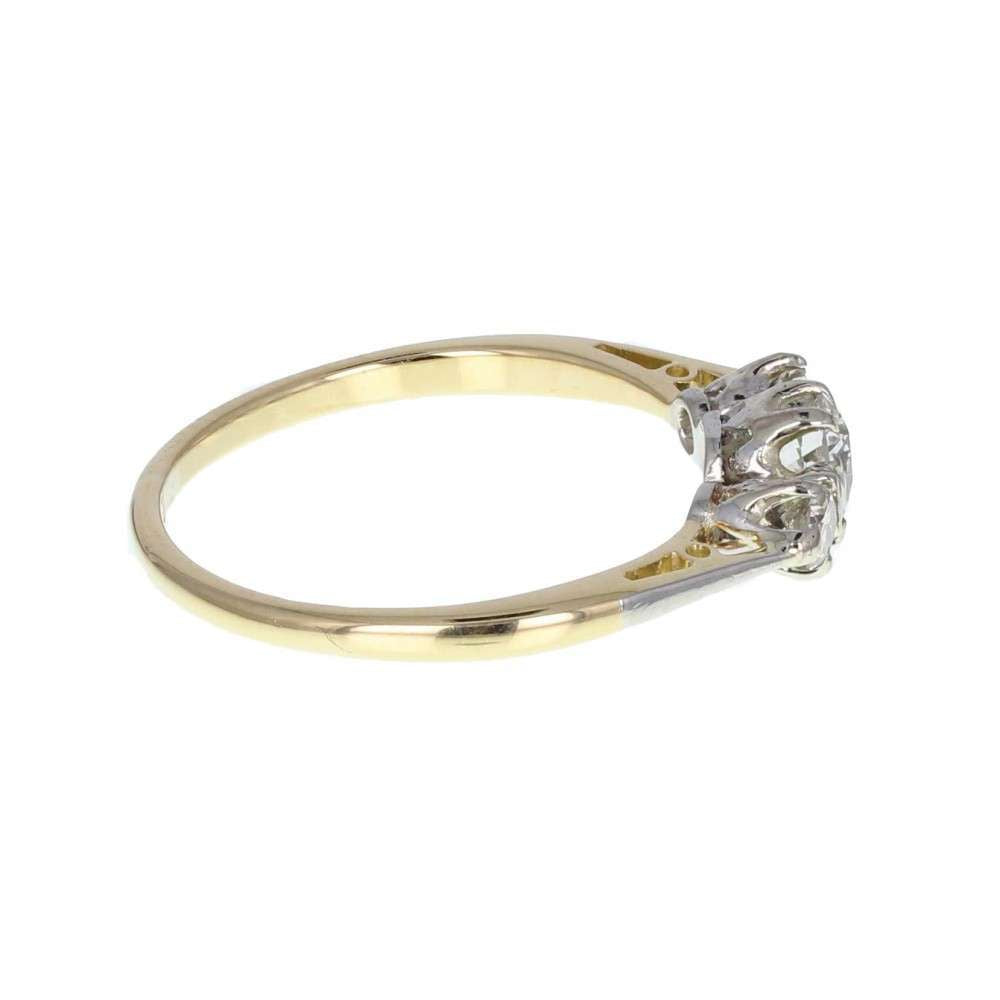 Classic Diamond Three Stone Ring