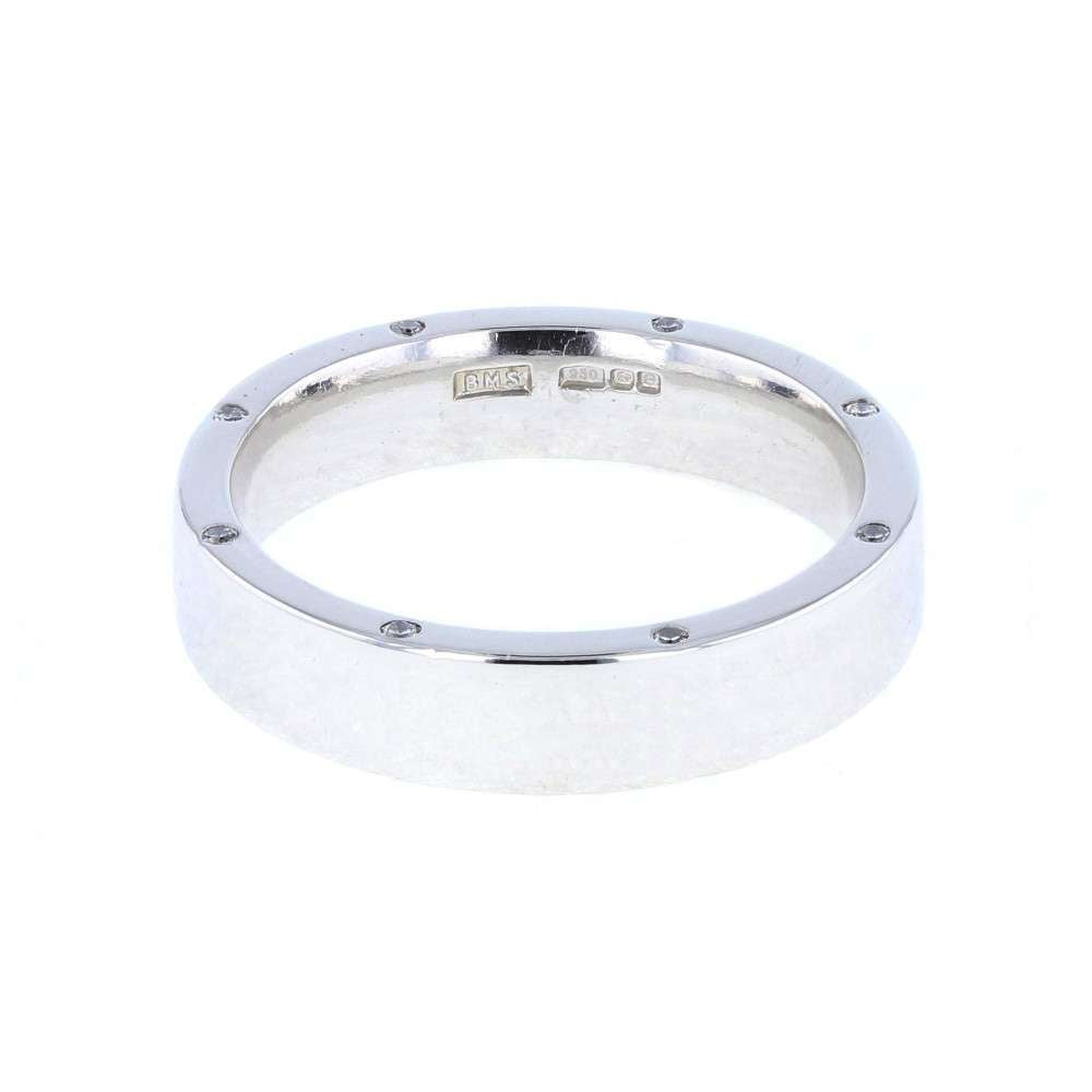 Heavy Diamond Set Platinum Band