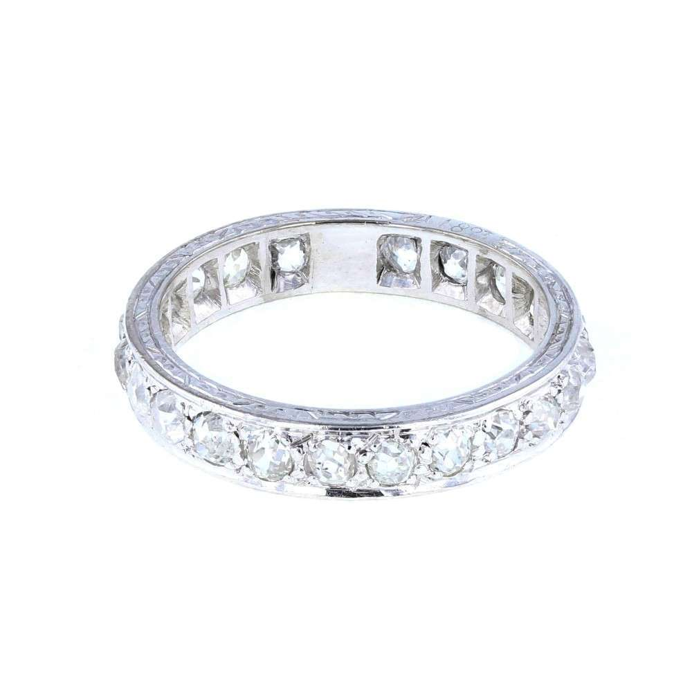 Edwardian Platinum and Diamond Full Hoop Eternity Ring