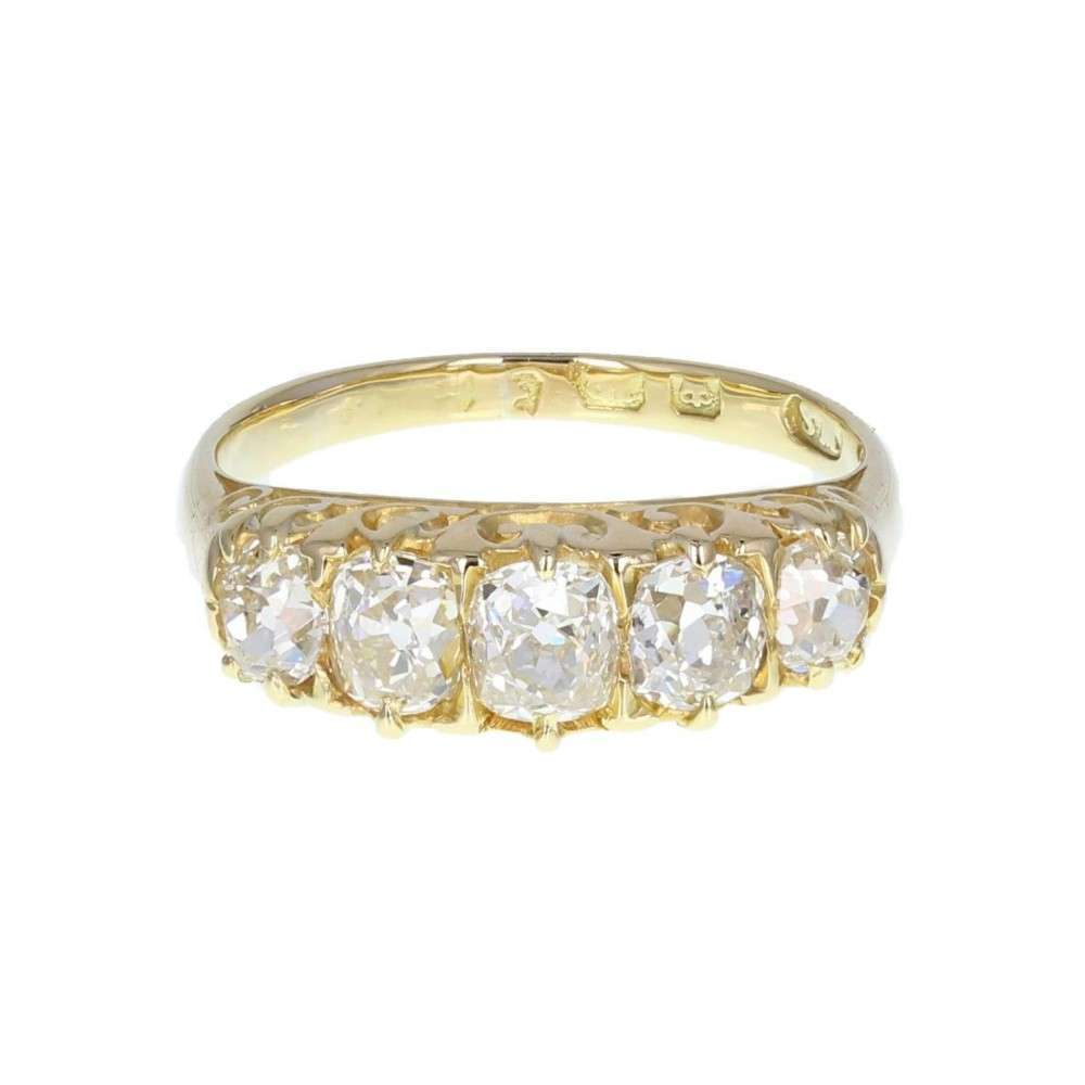 Gallery Set Five-Stone Diamond Ring