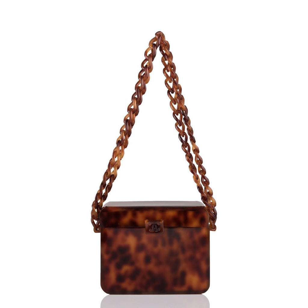 Chanel Vintage Tortoiseshell Plexiglass Box Bag (Preloved - Mint)