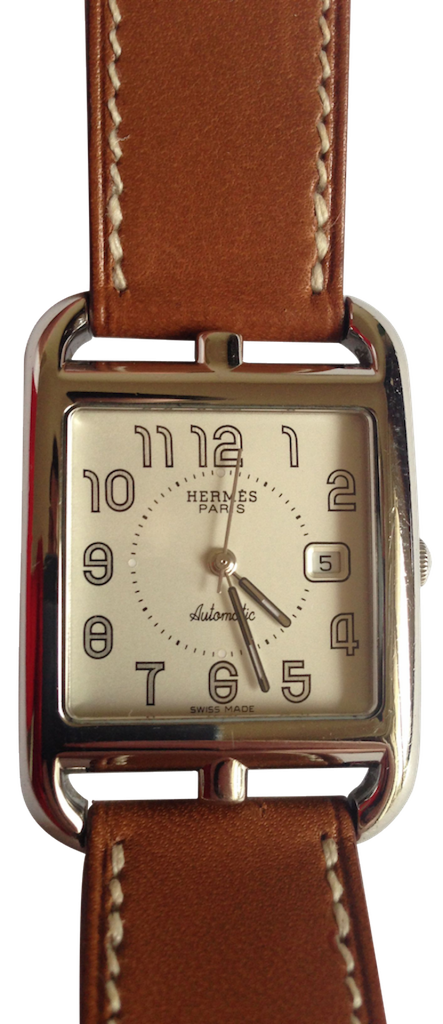 Hermes Hermès watch Cape Cod MM double round Barenia