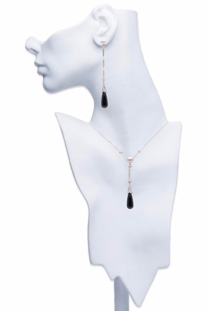 Cartier Monica Bellucci Diamond Pearl and Onyx Set 18K White Gold