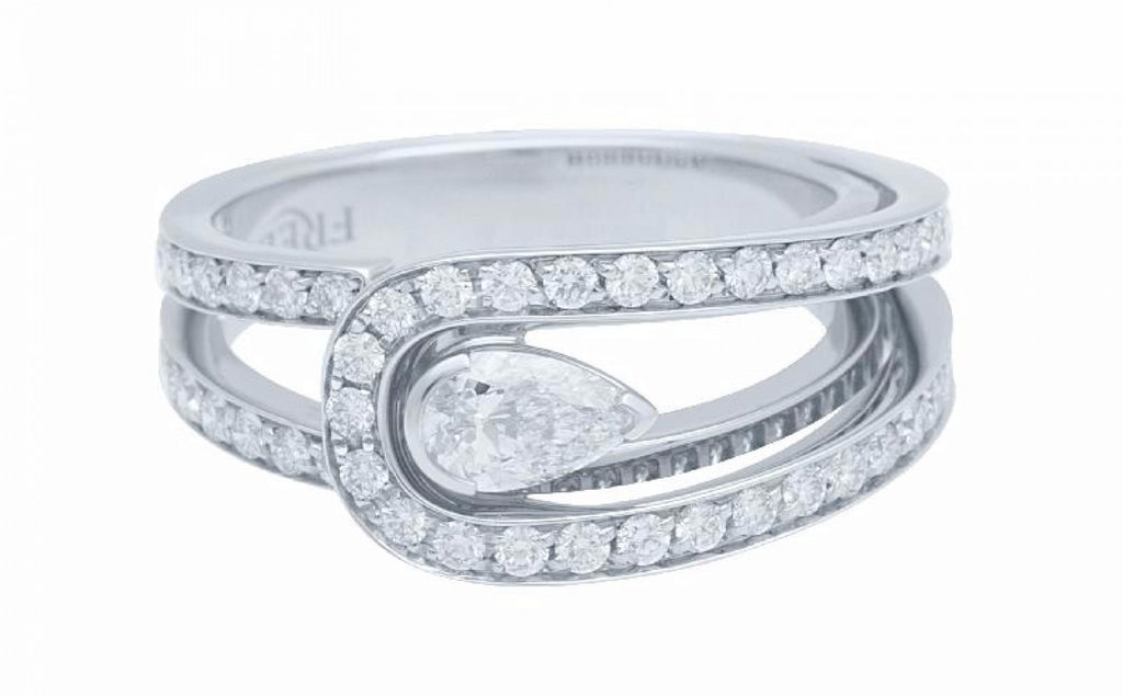 Fred Paris Diamond Platinum Ring