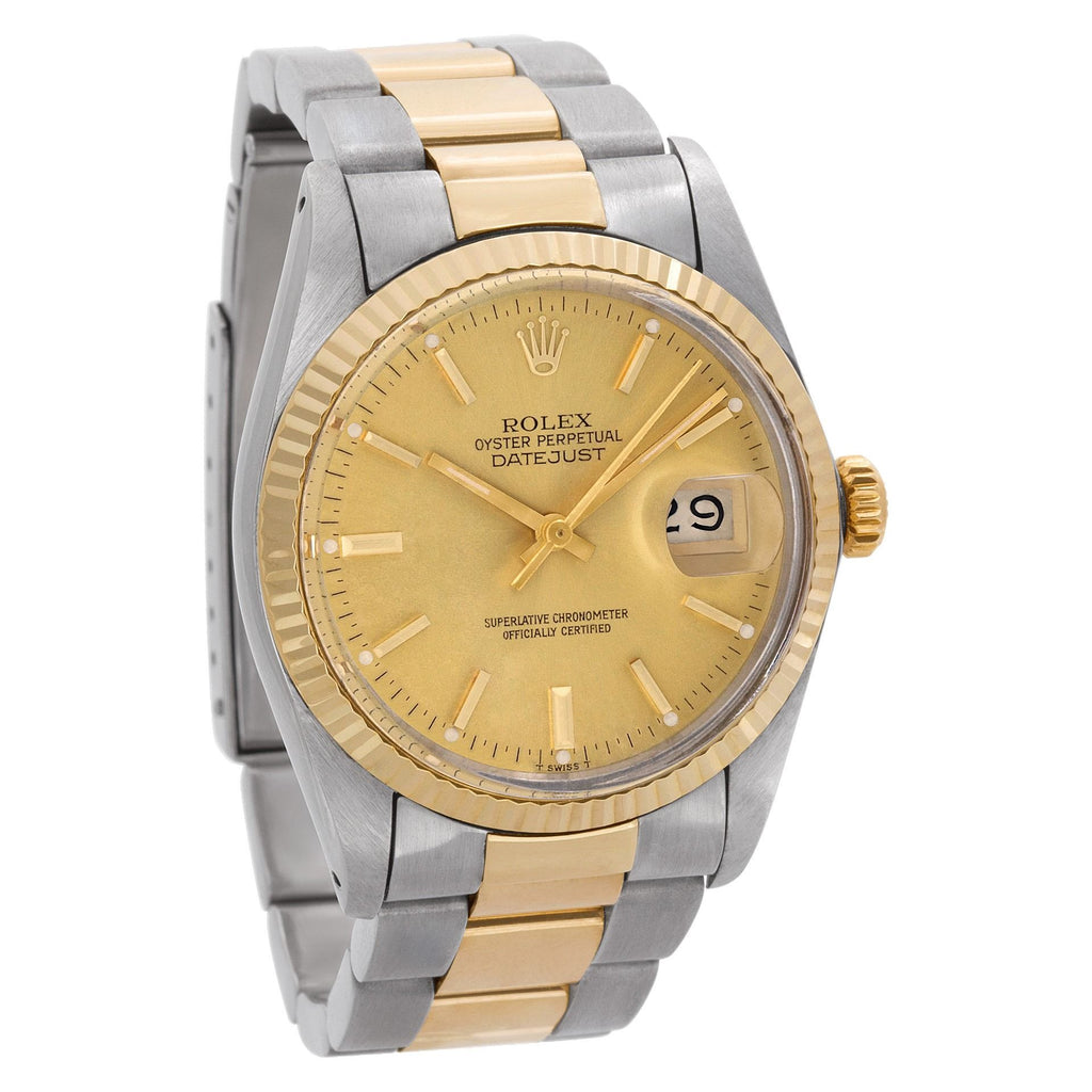 Rolex Datejust 16000 18k & stainless steel gold dial 36mm Automatic watch