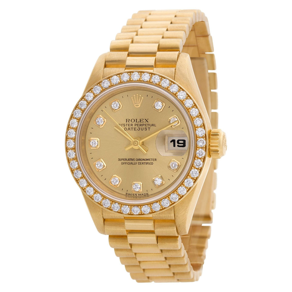 Rolex Datejust 69178 18k Gold dial 26mm Automatic watch. Circa 1996
