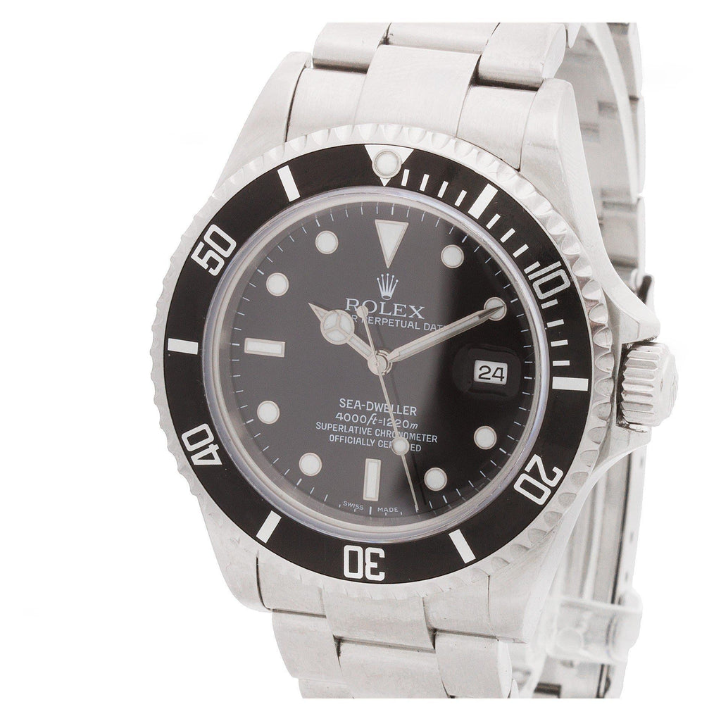 Rolex Sea-Dweller 16600T stainless steel Black dial 40mm auto watch