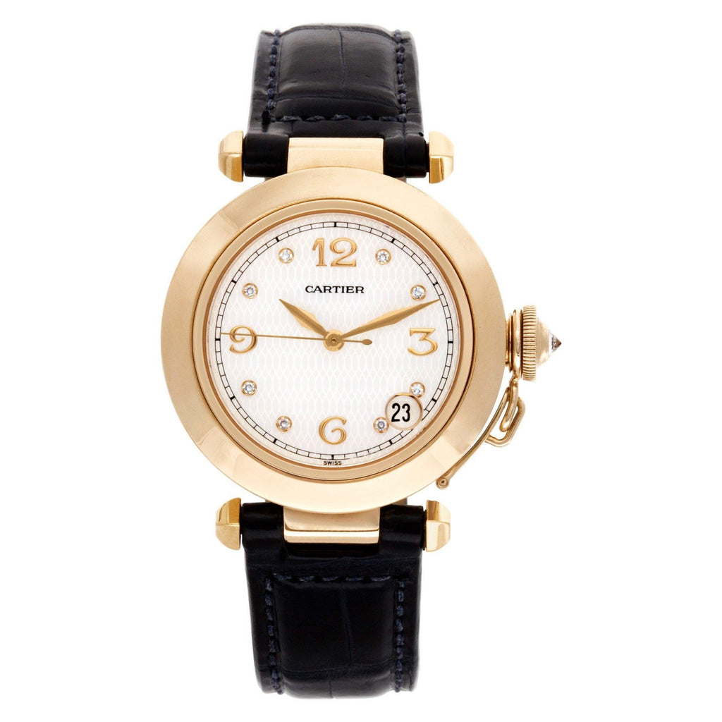Cartier Pasha 1035 18k Mother of Pearl dial 35mm Automatic watch