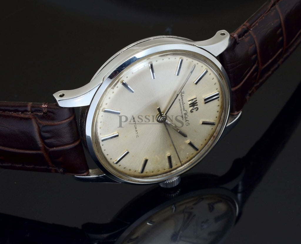 IWC vintage C.1964 34mm round cased automatic Cal.853 in Steel