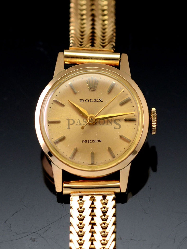 Rolex C.1950s 20mm Lady's Precision manual winding with sweep center seconds in