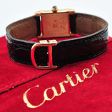 "Cartier vintage 1979 ""Tank Chinois"" manual winding in 18KYG with factory archive"
