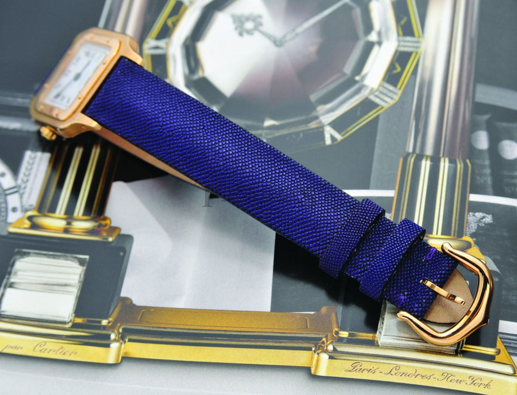 "Cartier, Lady's Ultra-thin ""Santos Dumont"" mech manual winding in 18KYG"