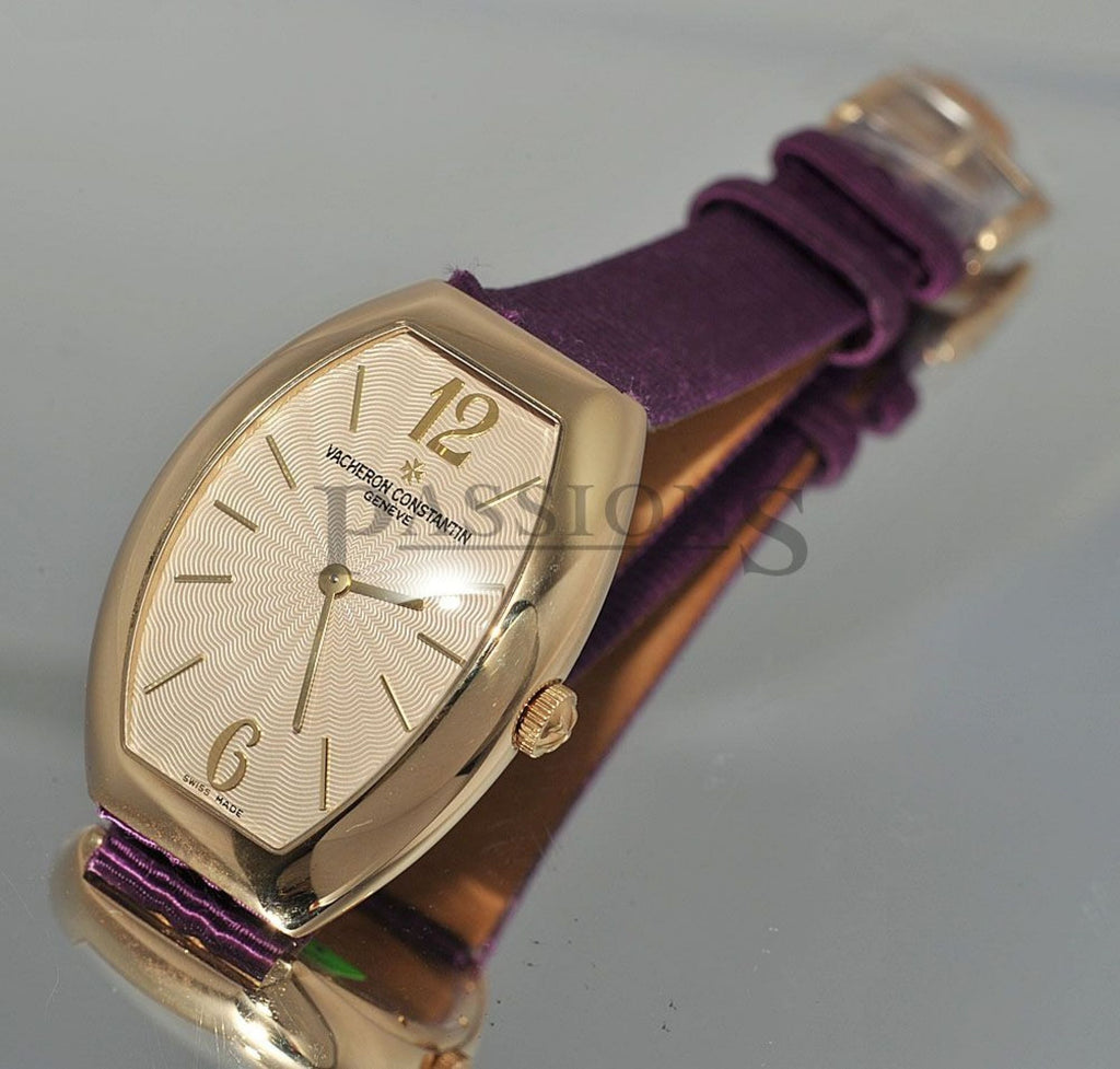 "Vacheron Constantin, 28mm Lady's ""Egerie Tonneau"" in 18KYG"