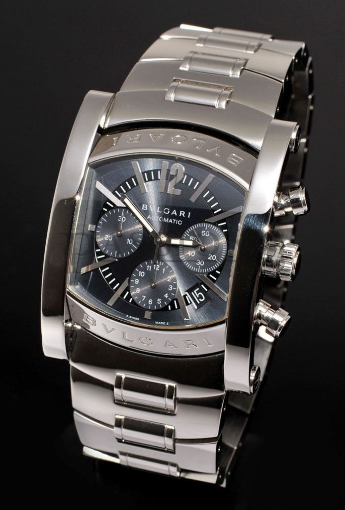"Bvlgari 38mm ""Assioma Chronograph"" auto/date in Steel"