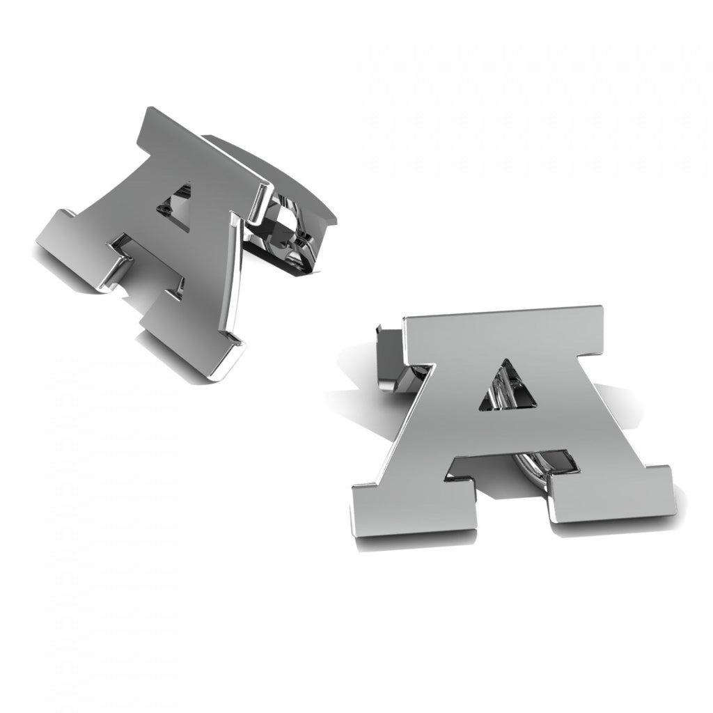 "CUFFLINKS LETTER ""A"" WHITE GOLD"