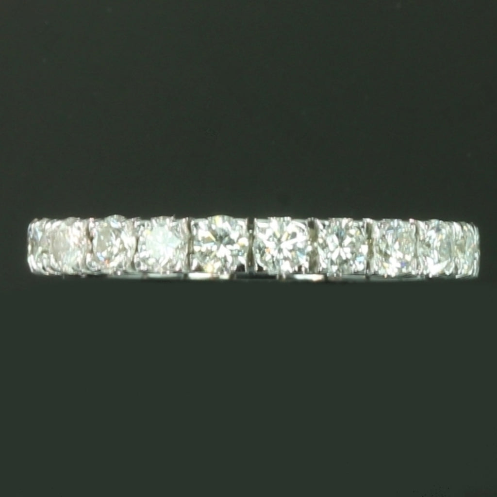 White gold estate eternity band