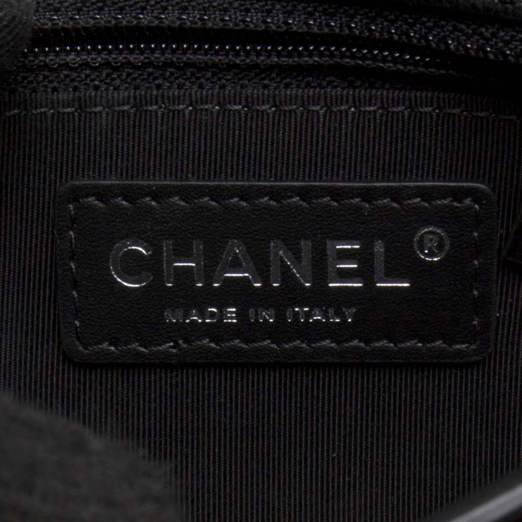 Chanel A94282 Black Lambskin Quilted CC Logo Chain Bag