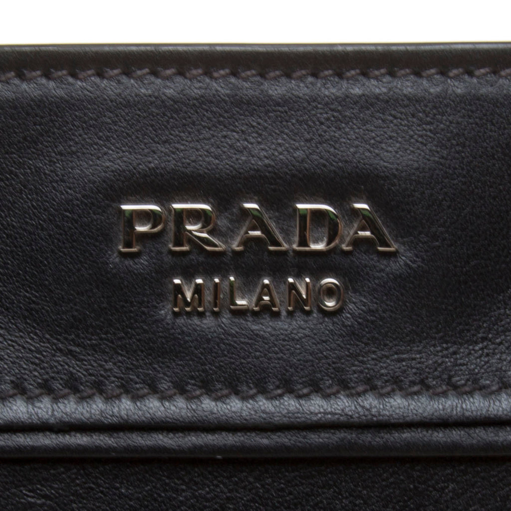 Prada Black Calf Leather Handbag