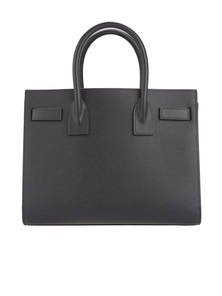 Classic Sac De Jour Baby in Dark Smog Grain De Poudre Embossed Leather