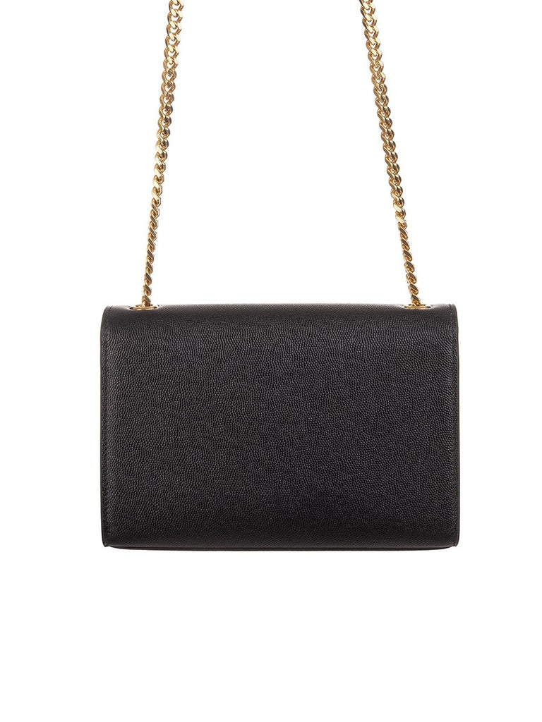 Kate Small in Black Grain De Poudre Embossed Leather Shoulder Bag