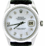 Pre Owned Mens Rolex Stainless Steel Datejust with a MOP Diamond Dial 1603