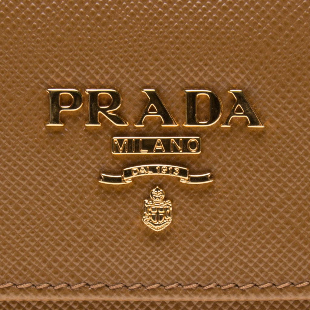 Prada Brown Saffiano Leather Medium Wallet