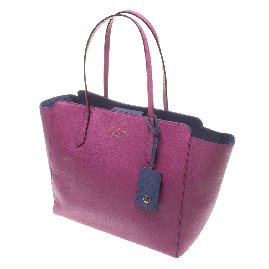 Gucci 354397 Magenta Swing Leather GM Tote Bag