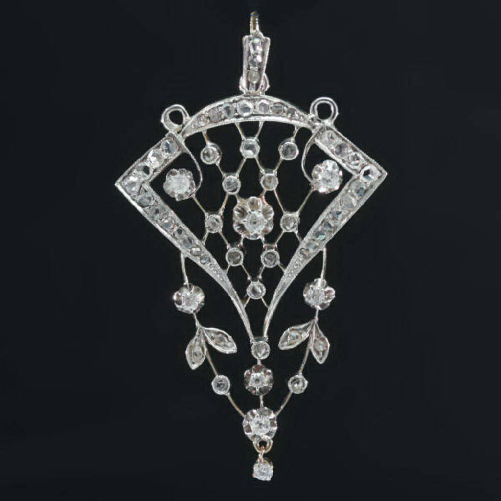 Late Victorian Russian diamond pendant