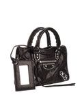 Classic Nano City Black Leather Tote