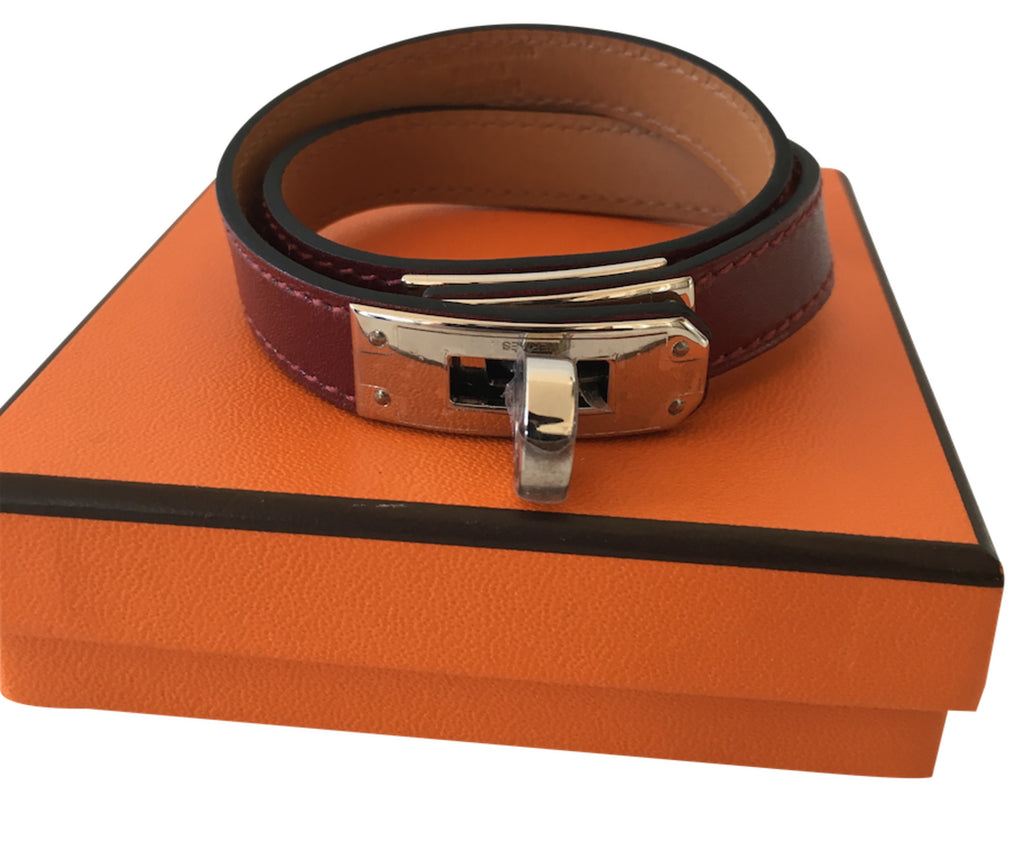 Hermes Kelly bracelet Double Tour Box Rouge H