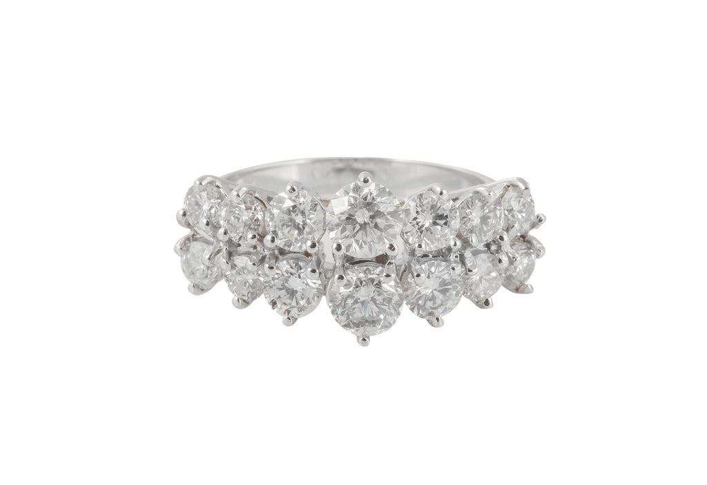 Scintillating diamond dress ring