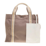 Hermes Light Brown Canvas Sac Harivais