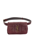 Jamie Carre Rive Gauche Dark Legion Red Quilted Leather Belt Bag