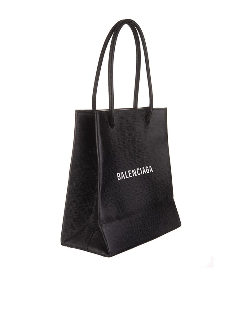 Shopping XXS Black Grained Leather Tote