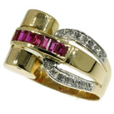 Rubies & Diamonds Retro ring