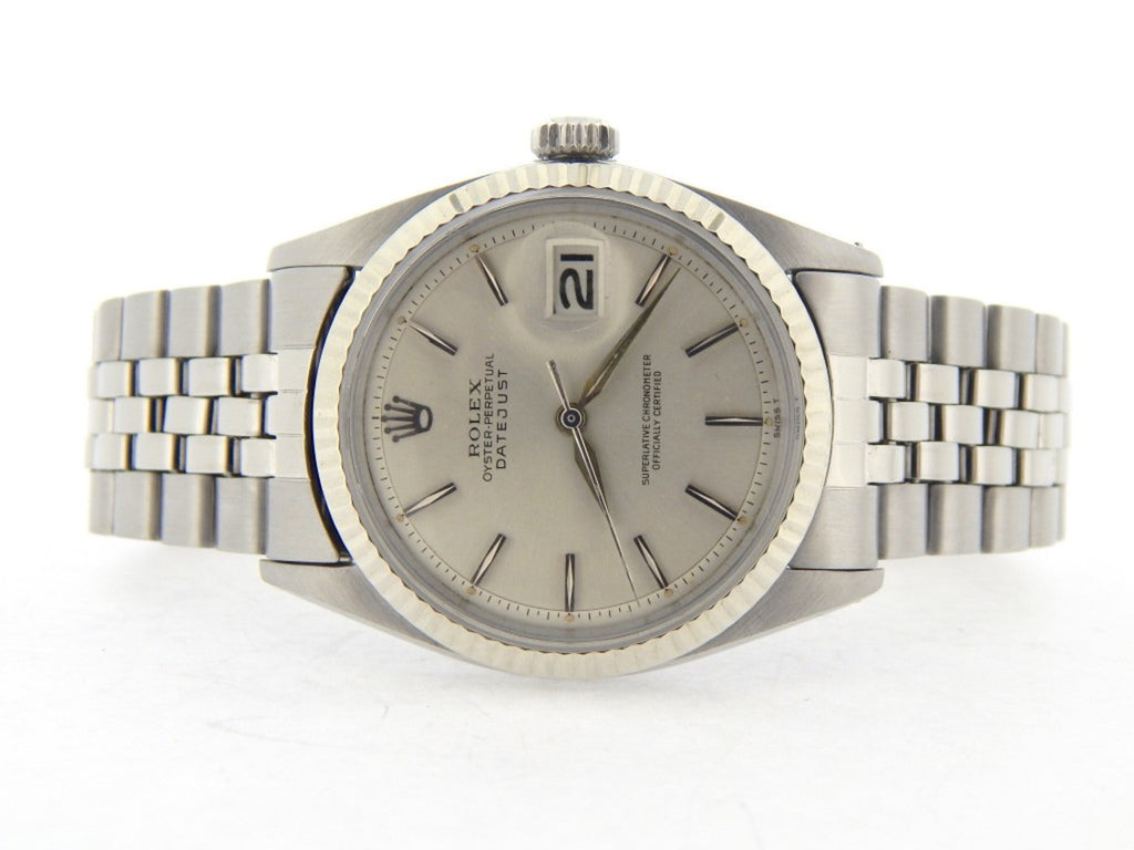 Pre Owned Mens Rolex Stainless Steel Datejust with a Silver Dial 1601