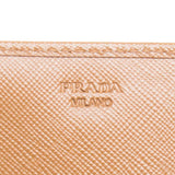 Prada Brown Saffiano Leather Continental Wallet