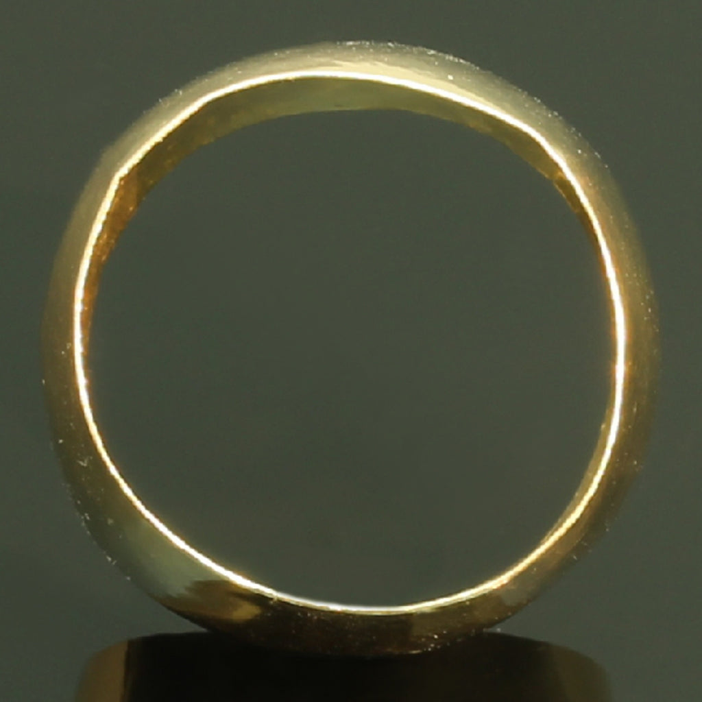 Rare extra wide antique wedding band