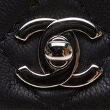 Chanel A90693 Black Calf Leather Quilted Chain Bag