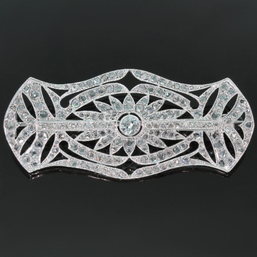 Belle Epoque Art Deco brooch set