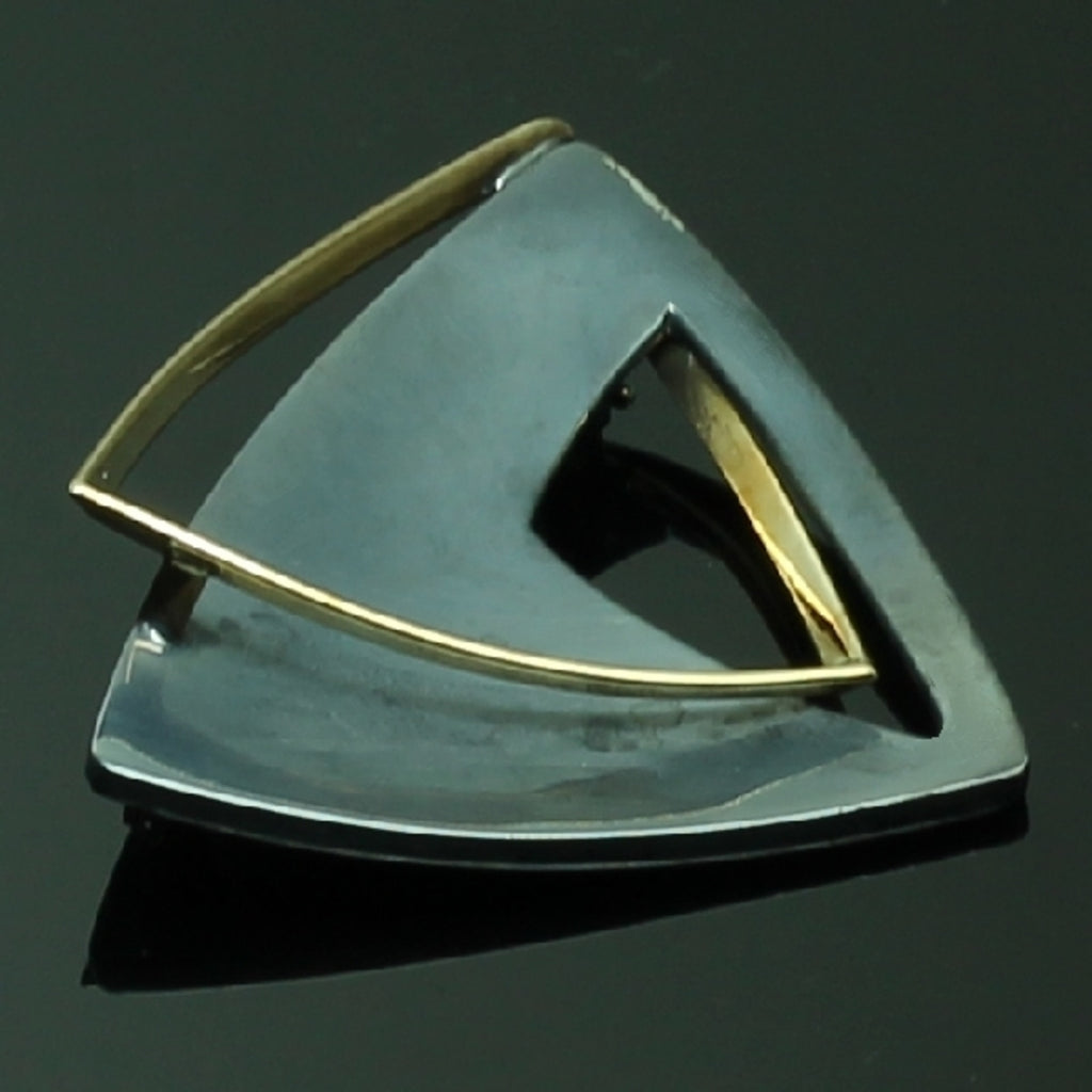 Chris Steenbergen silver and gold brooch