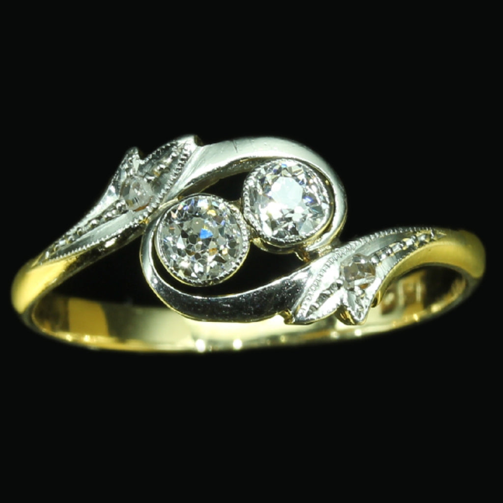Estate engagement cross over ring