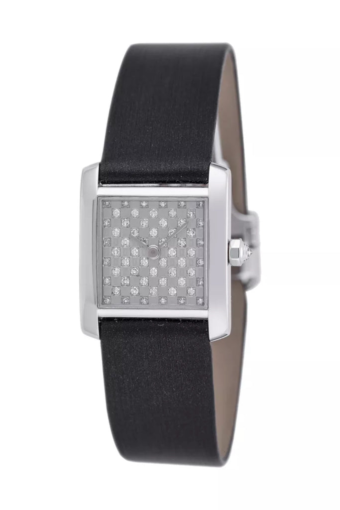 Pre-owned Cartier Tank Française with Diamonds 2517