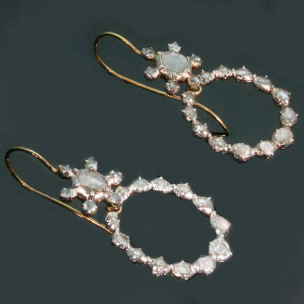 Victorian diamond dangle earrings