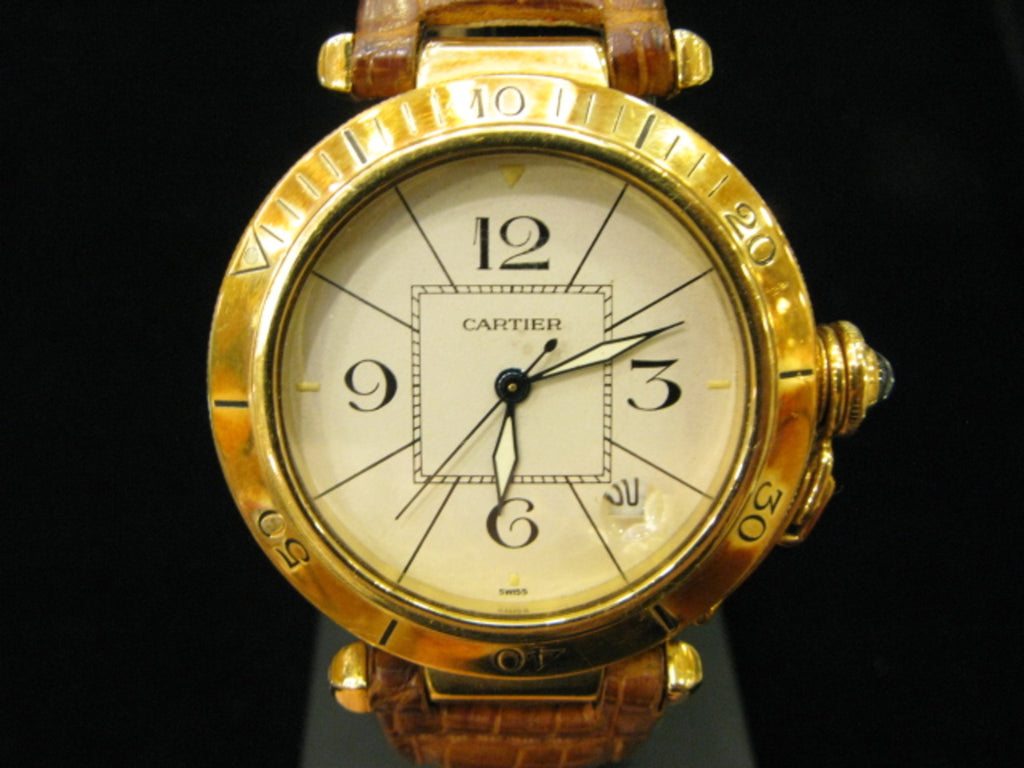 Cartier Gold Brown Strap