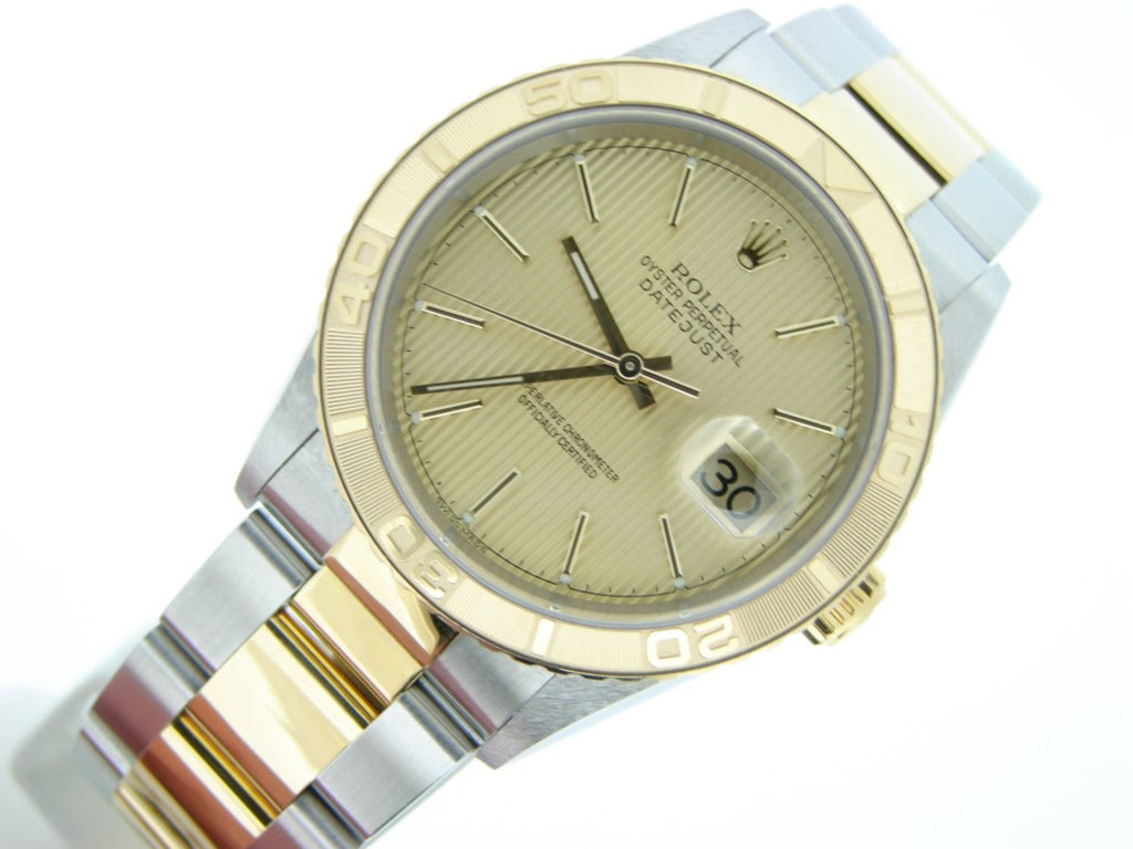 Pre Owned Mens Rolex Two-Tone Datejust with a Gold/Champagne Dial 16263