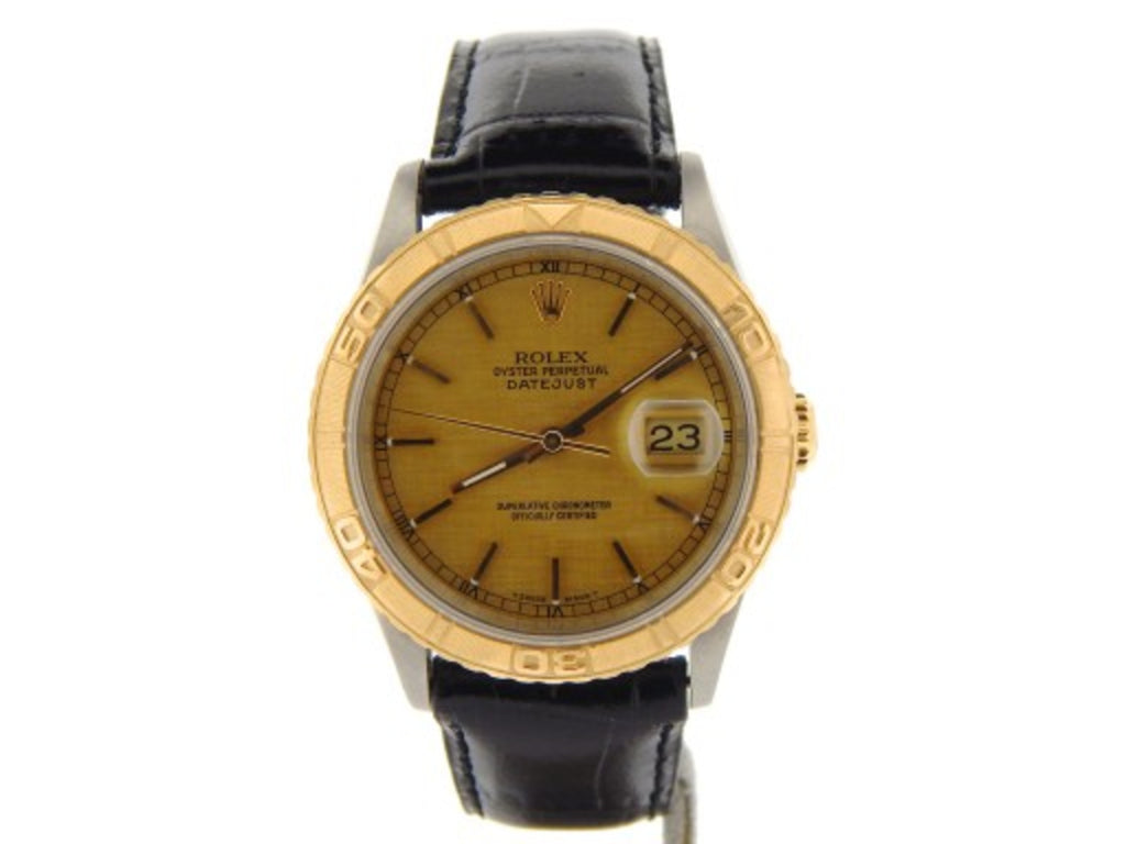 Pre Owned Mens Rolex Two-Tone Datejust with a Champagne Dial 16263