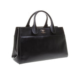 Chanel Black Calfskin Leather Handbag with Shoulder Strap