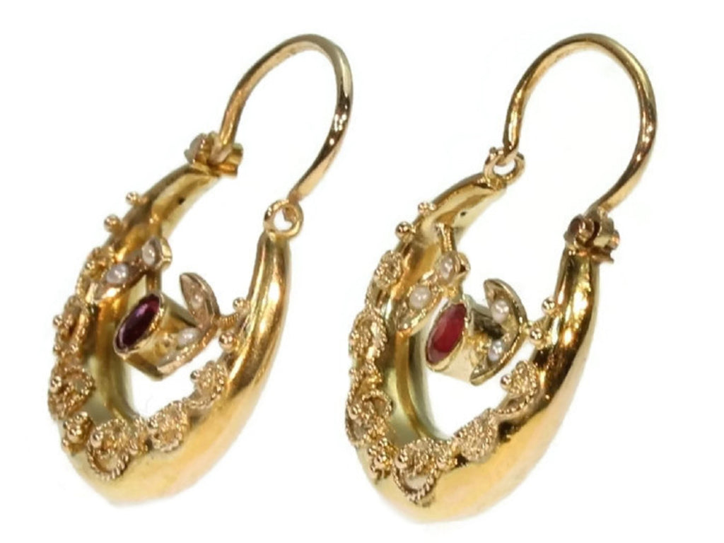 Victorian antique earrings