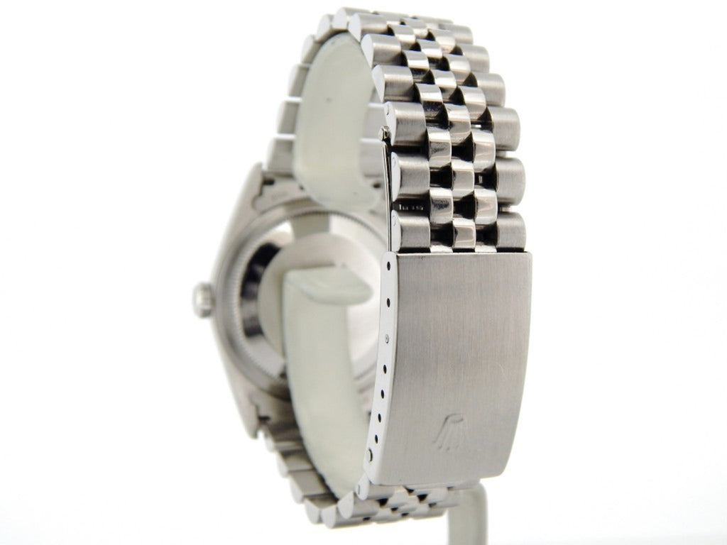 Pre Owned Mens Rolex Stainless Steel Datejust with a Silver Dial 16200